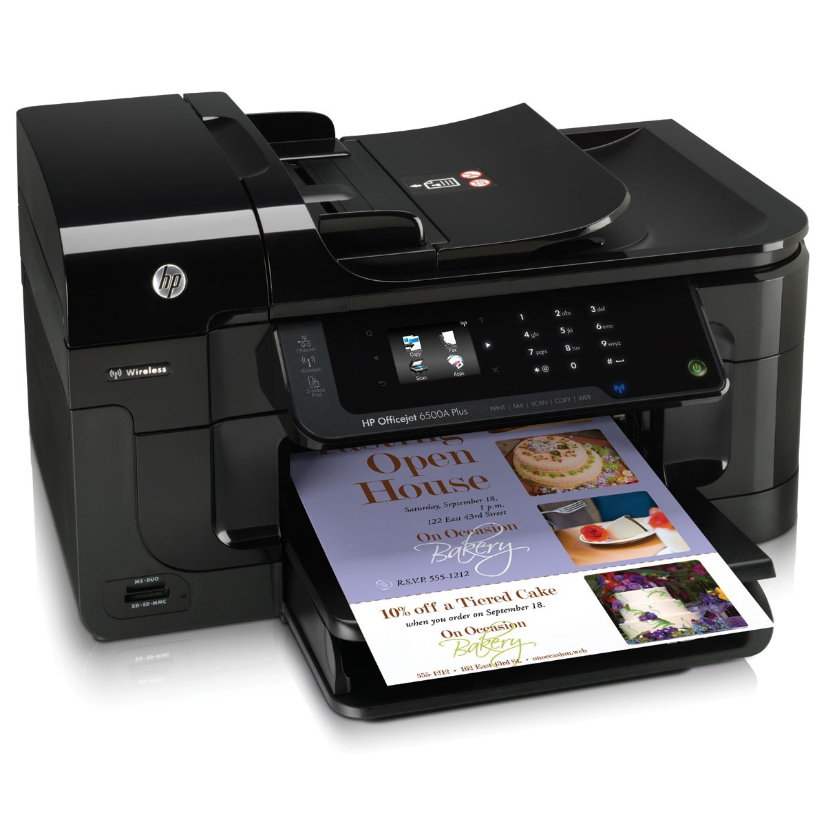 Imprimante multifonction HP Officejet 6500A Plus (E710n) HP Officejet 6500A Plus (E710n) - Imprimante Multifonction jet d'encre couleur 4-en-1 (USB 2.0 / Ethernet / Wi-Fi b/g/n)
