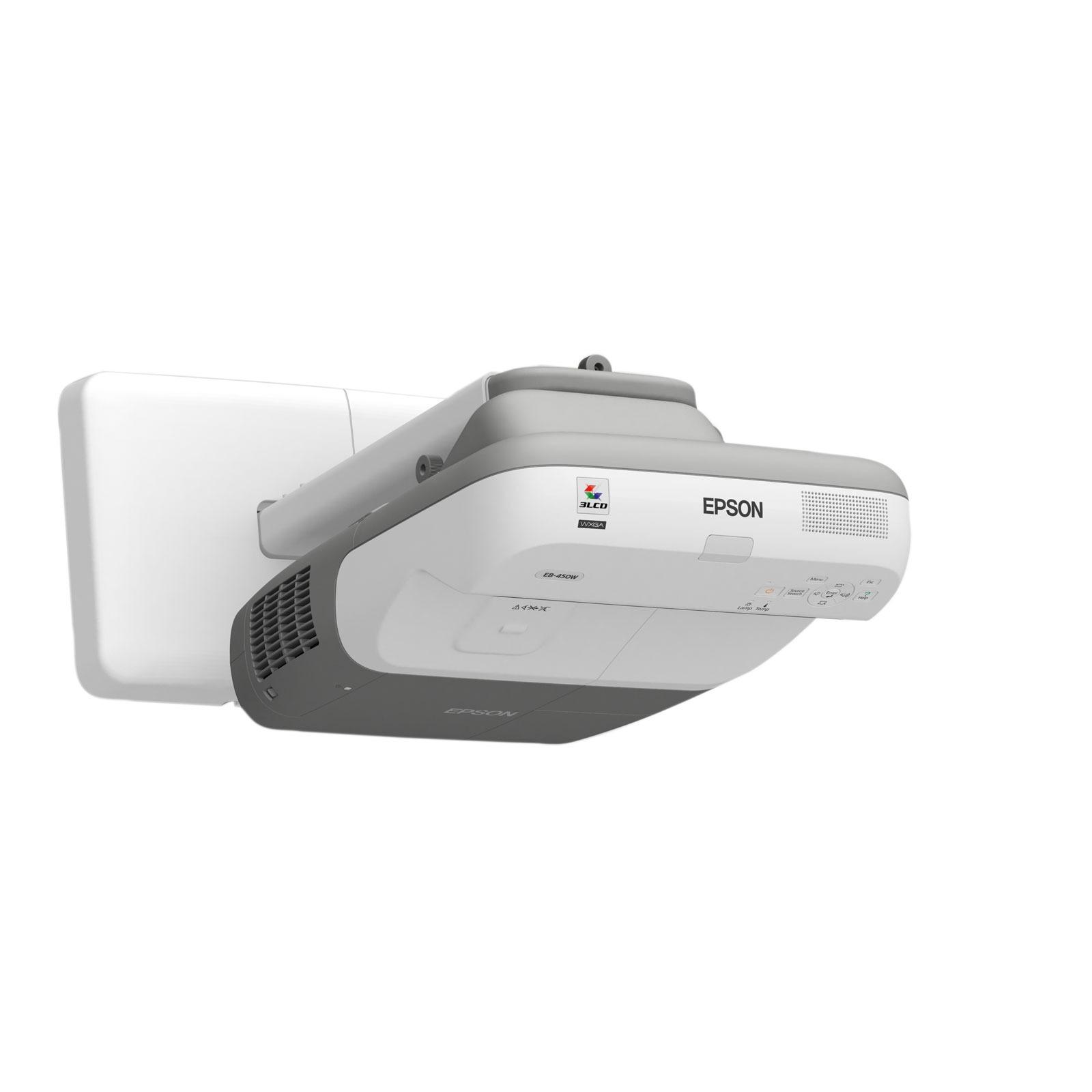 Vidéoprojecteur Epson EB-460i Epson EB-460i - Vidéoprojecteur LCD XGA 3000 Lumens à focal ultra-courte (garantie constructeur 3 ans retour atelier/lampe 1 an)