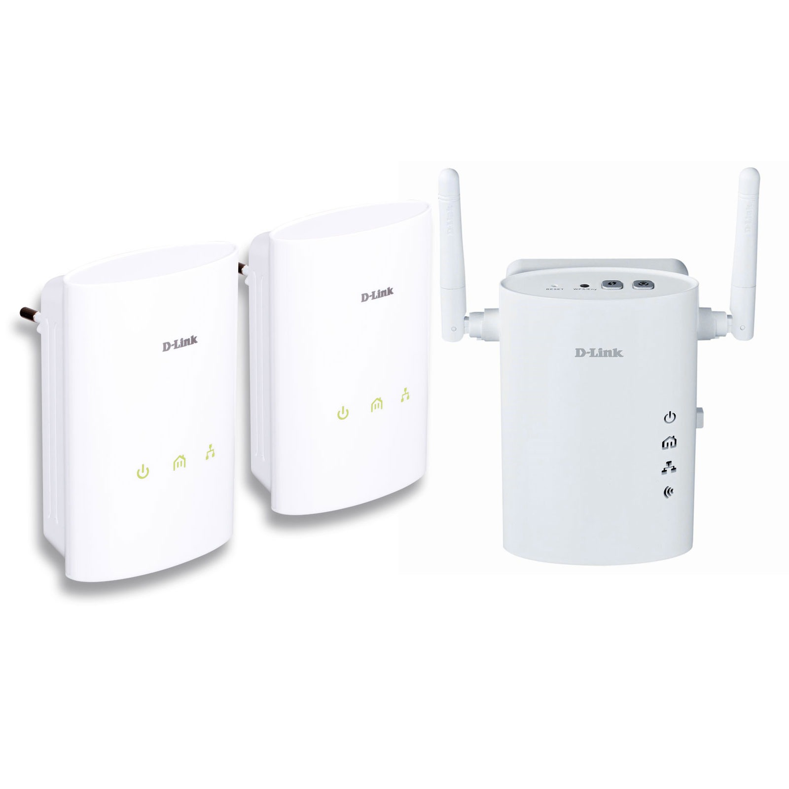CPL D-Link DHP-307 + DHP-W306AV D-Link DHP-307 + DHP-W306AV - Pack de 2 adaptateurs CPL Homeplug AV 200Mbps + adaptateur CPL Wi-Fi
