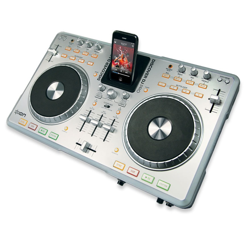 ion discover dj pro table de mixage ion audio sur. Black Bedroom Furniture Sets. Home Design Ideas