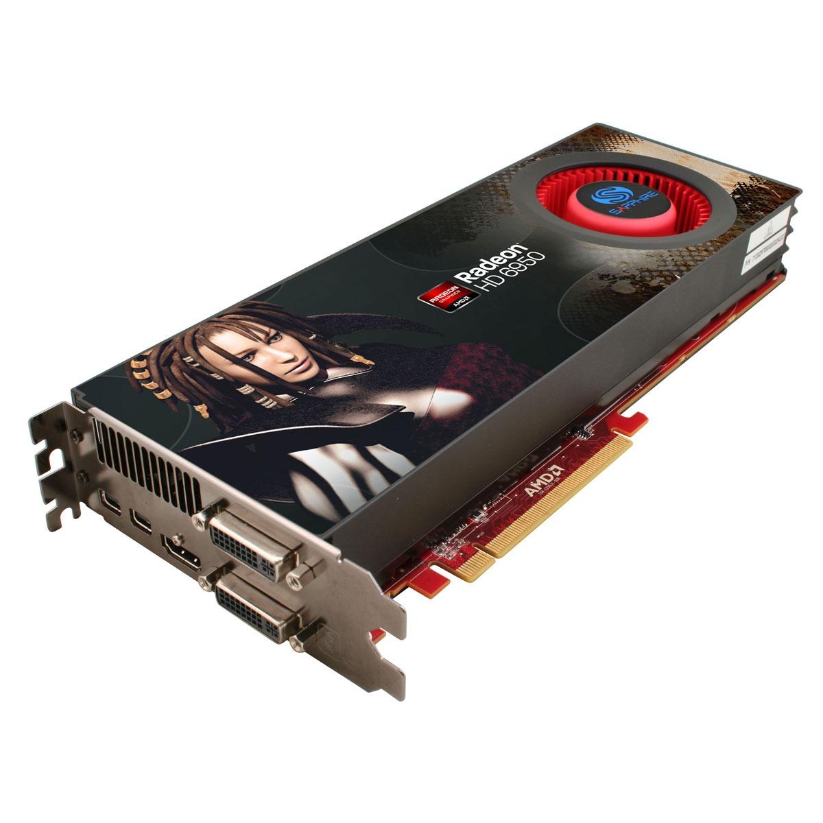 Carte graphique Sapphire Radeon HD 6950 2 GB Sapphire Radeon HD 6950 - 2 Go HDMI/Dual DVI/Dual Mini-DisplayPort - PCI Express (AMD Radeon HD 6950)
