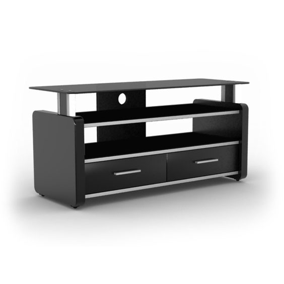 elmob lara la 105 02 noir meuble tv elmob sur. Black Bedroom Furniture Sets. Home Design Ideas