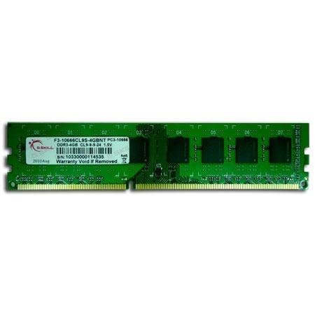 Mémoire PC G.Skill NT Series 4 Go DDR3 1333 MHz G.Skill NT Series 4 Go DDR3-SDRAM PC3-10600 - F3-10600CL9S-4GBNT (garantie 10 ans par G.Skill)