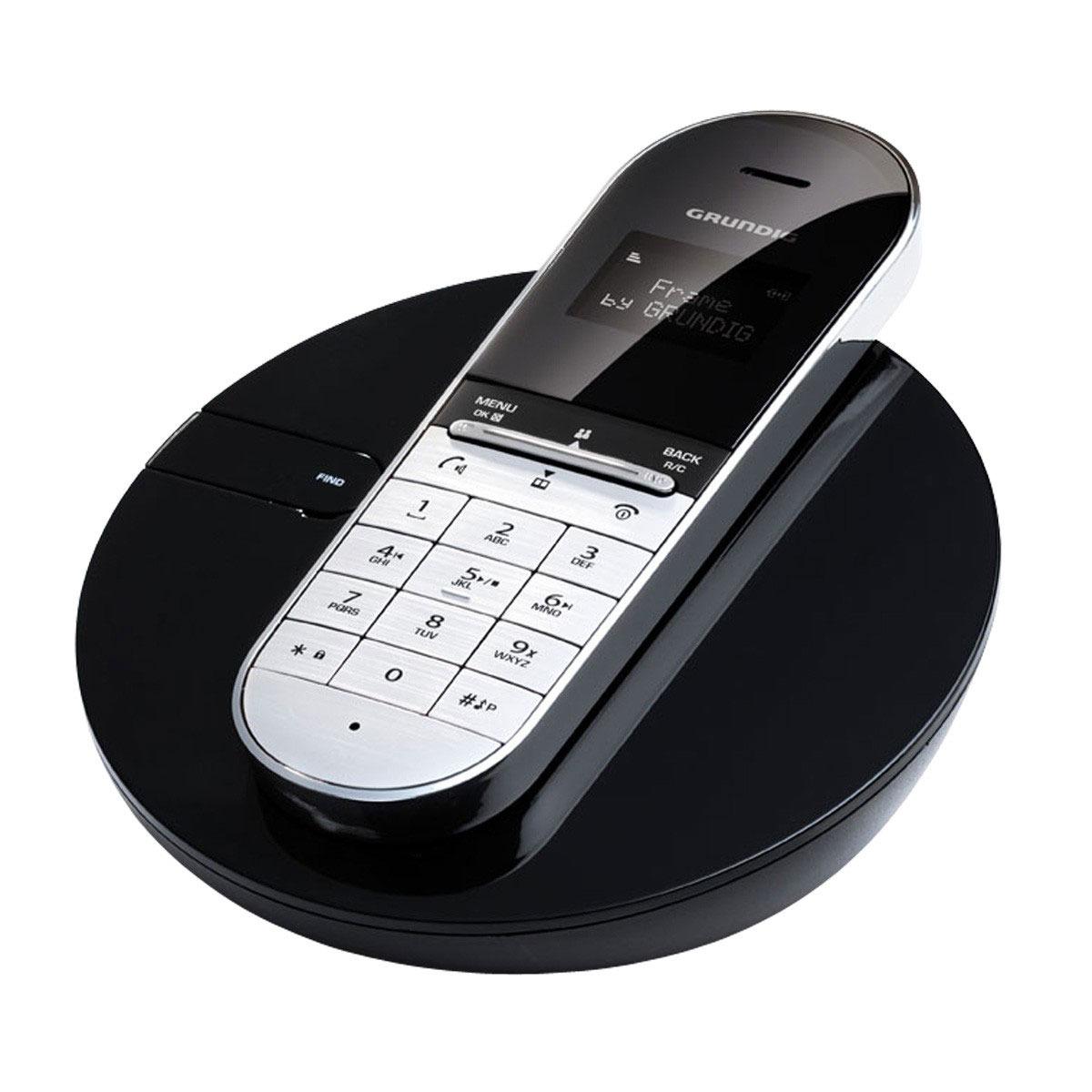 grundig frame noir t l phone sans fil grundig sur. Black Bedroom Furniture Sets. Home Design Ideas