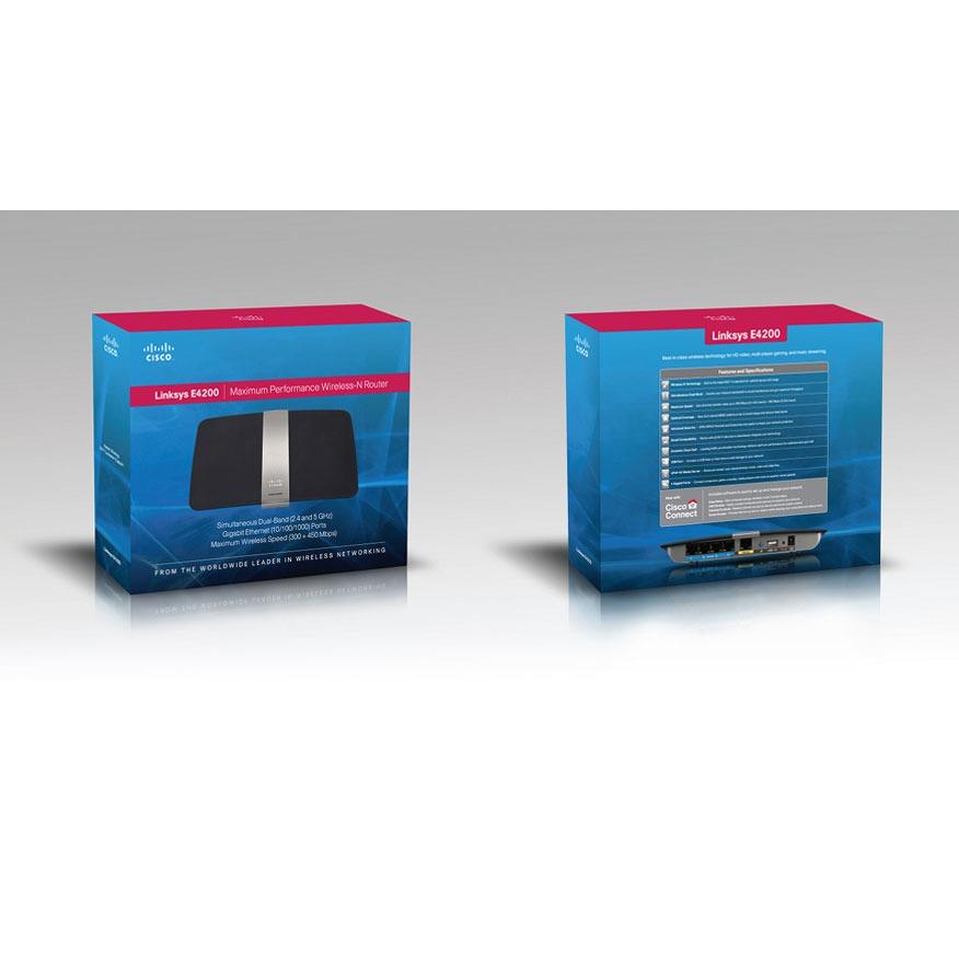 Modem & routeur Linksys E4200 Routeur sans fil Wi-Fi N 450 Mbps Dual Band simultanées