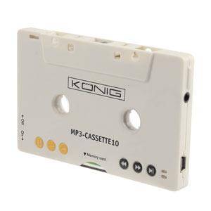 Lecteur MP3 & iPod König Cassette Shaped MP3 Player Combiné lecteur MP3 / adaptateur K7 avec emplacement pour carte SD