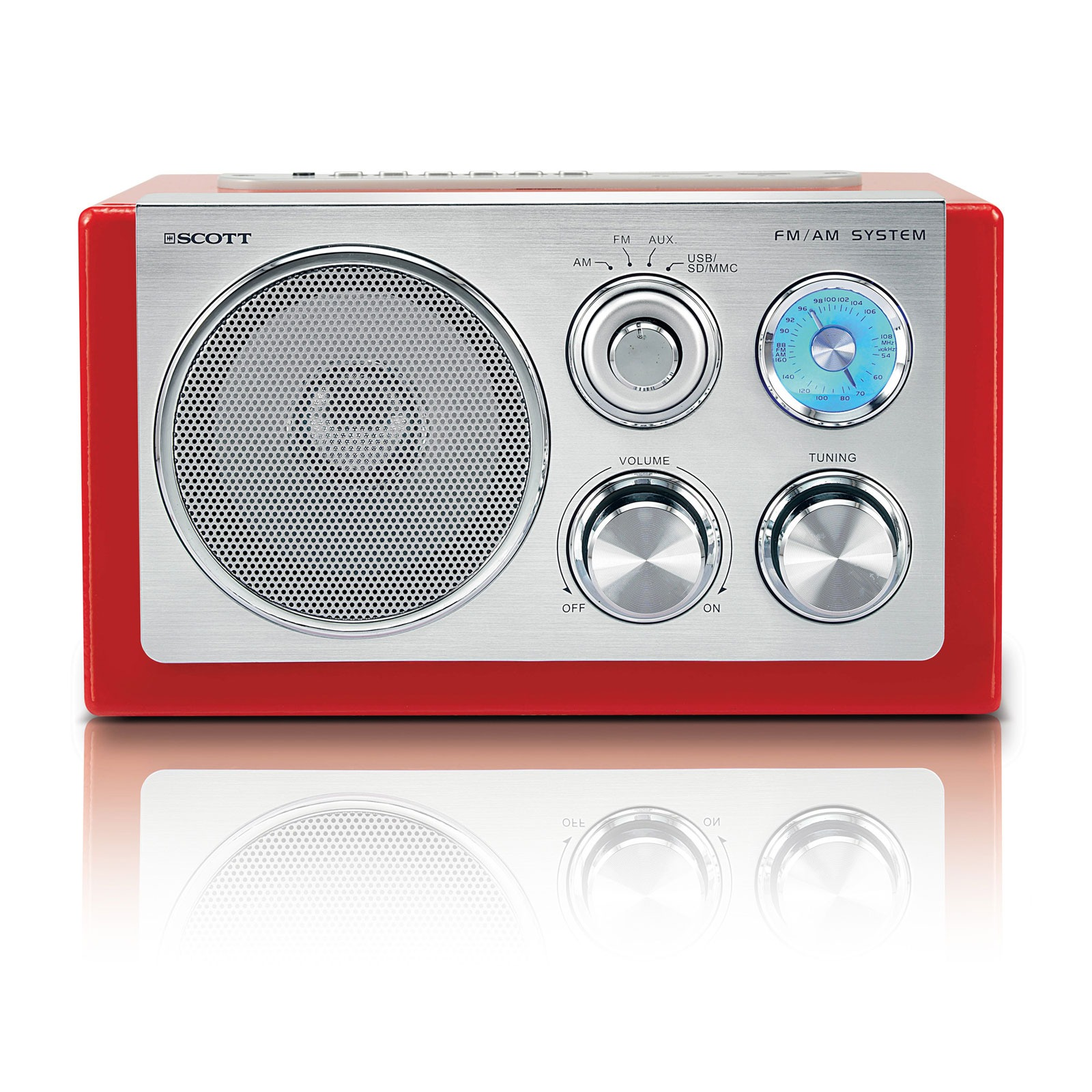 scott rx 19 retro rouge radio radio r veil scott sur. Black Bedroom Furniture Sets. Home Design Ideas