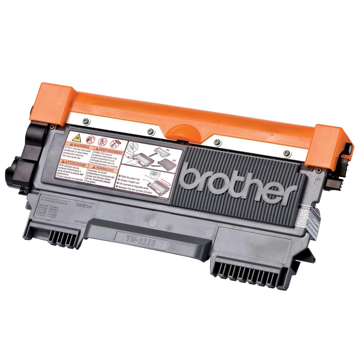 Toner imprimante Brother TN-2220 Toner noir (2 600 pages à 5%)