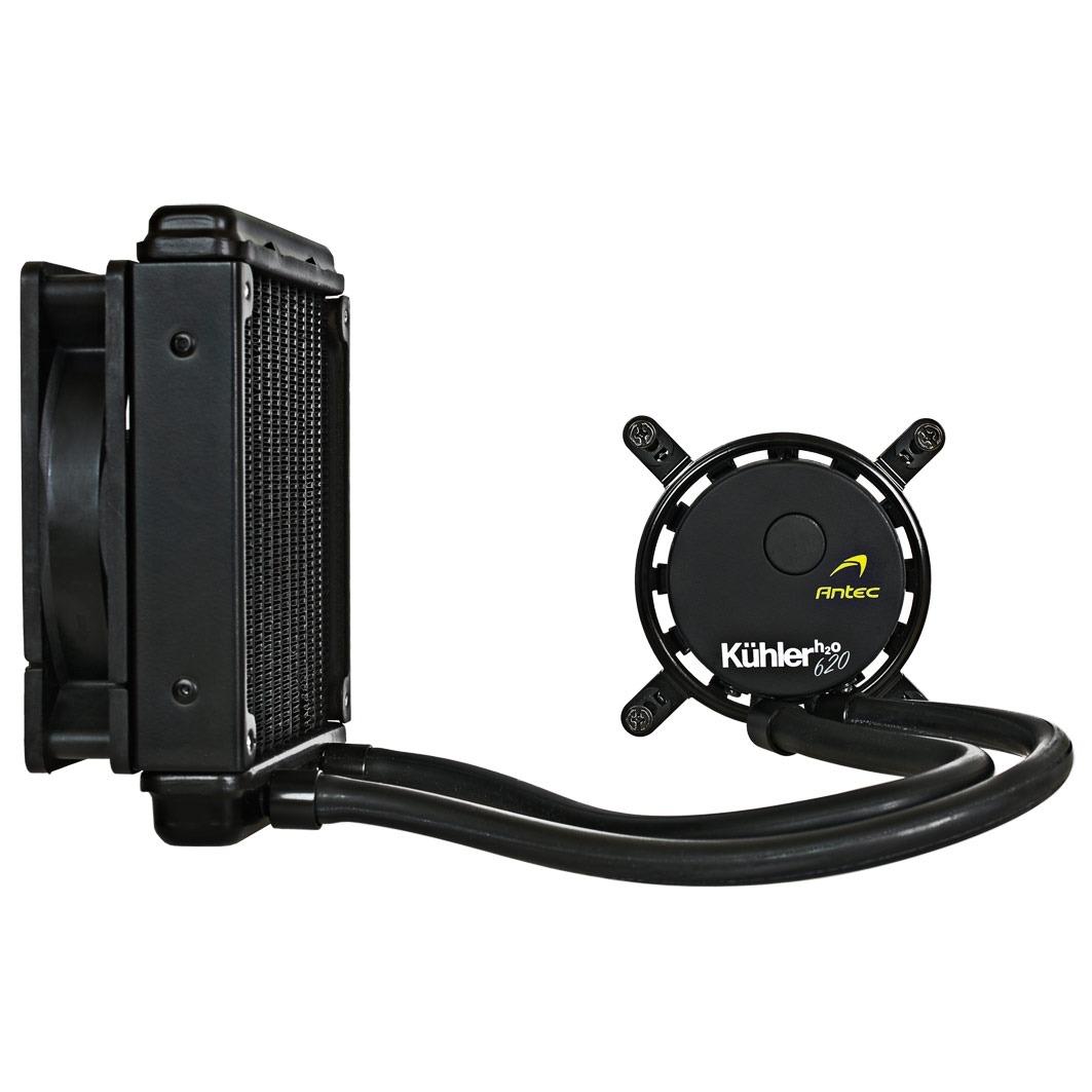 Watercooling Antec Kühler H2O 620 Système de watercooling pour processeur (pour socket Intel 1155/1156/1366/2011 et AMD AM2/AM2+/AM3)