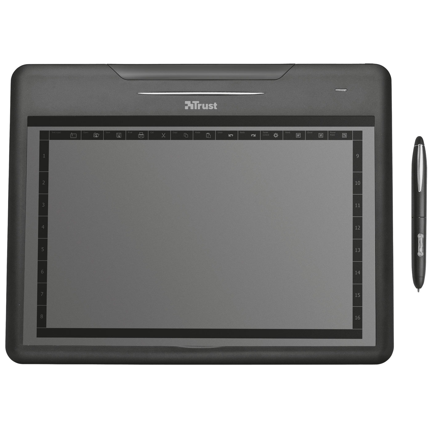 Tablette graphique Trust Slimline Widescreen Tablet Tablette graphique format A5 large (PC)