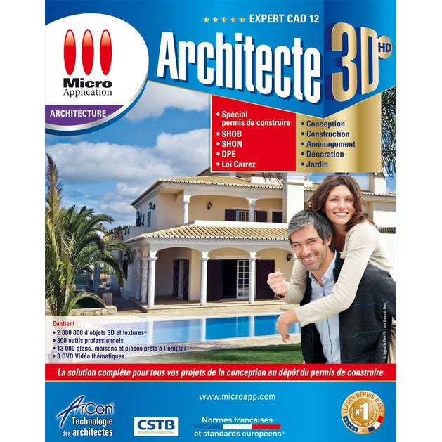 Micro application architecte 3dhd expert cad 12 for 3d architecte micro application