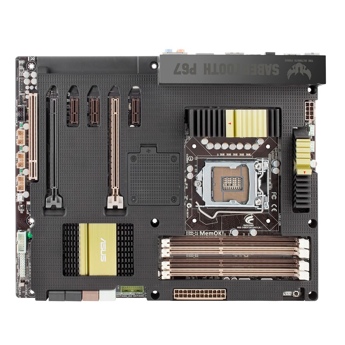 Carte mère ASUS SABERTOOTH P67 REV 3.0 Carte mère ATX Socket 1155 Intel P67 Express Revision B3 (garantie 3 ans)