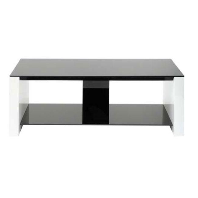Erard smart noir blanc meuble tv erard group sur for Meuble hifi 110