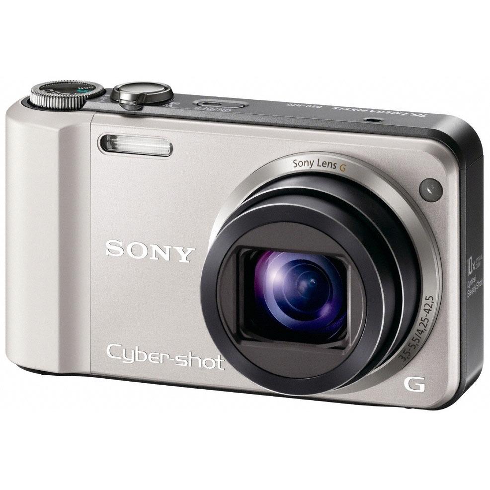 Appareil photo numérique Sony CyberShot DSC-H70 Argent Sony CyberShot DSC-H70 Argent - Appareil photo 16.1 MP - Zoom 10x - Vidéo HD