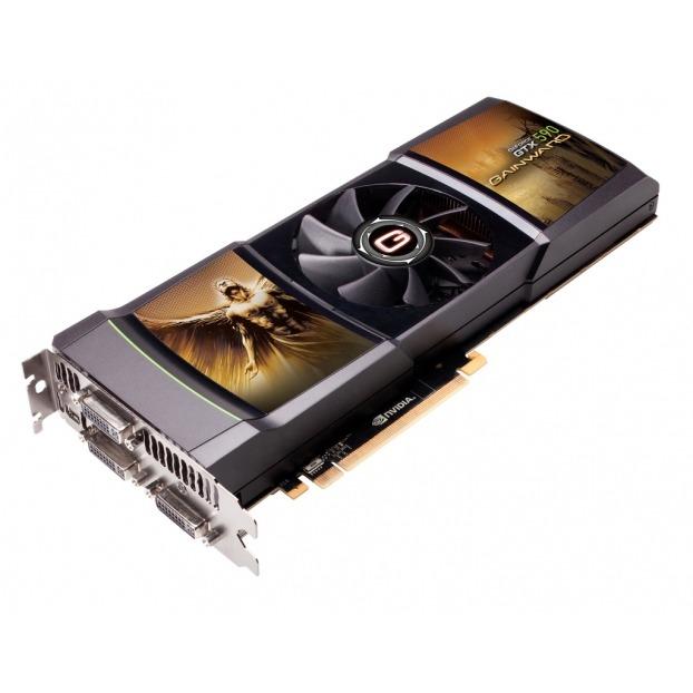 Carte graphique Gainward GeForce GTX 590 3072MB 3072 Mo Triple DVI/ Mini DisplayPort - PCI Express (NVIDIA GeForce avec CUDA GTX 590)