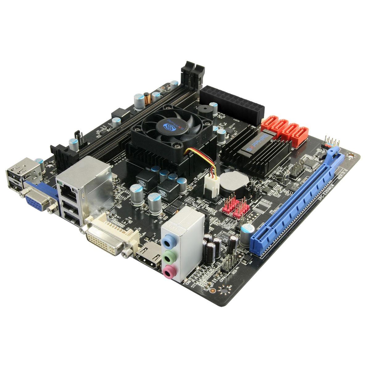 Carte mère Sapphire PURE White Fusion E350 (IPC-E350M1W) Carte mère Mini ITX avec processeur AMD E350 (AMD Hudson M1)