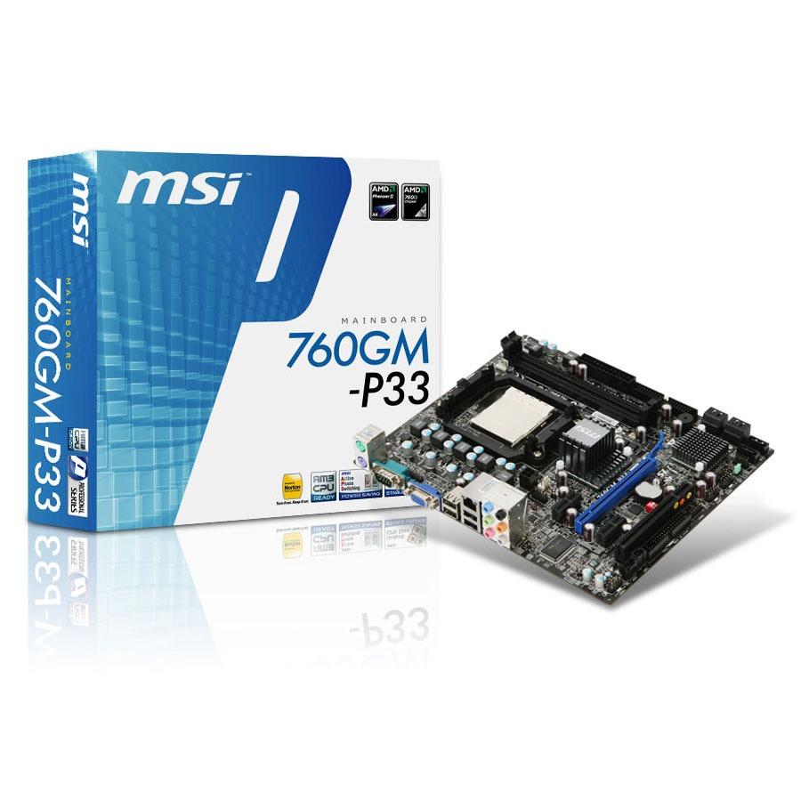 Carte mère MSI 760GM-P33 (AMD 760G) Micro ATX MSI 760GM-P33 (AMD 760G) - Micro ATX