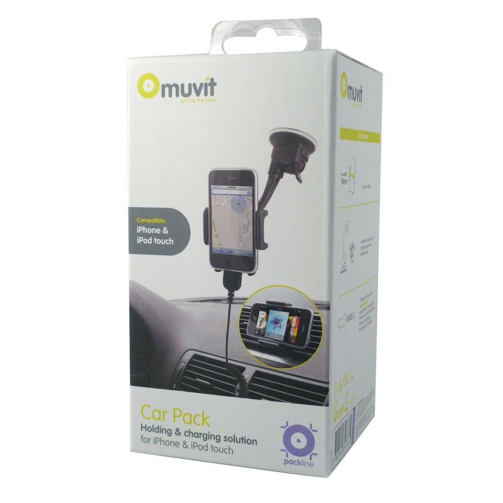 muvit car pack pour iphone 4 pack accessoires muvit sur. Black Bedroom Furniture Sets. Home Design Ideas