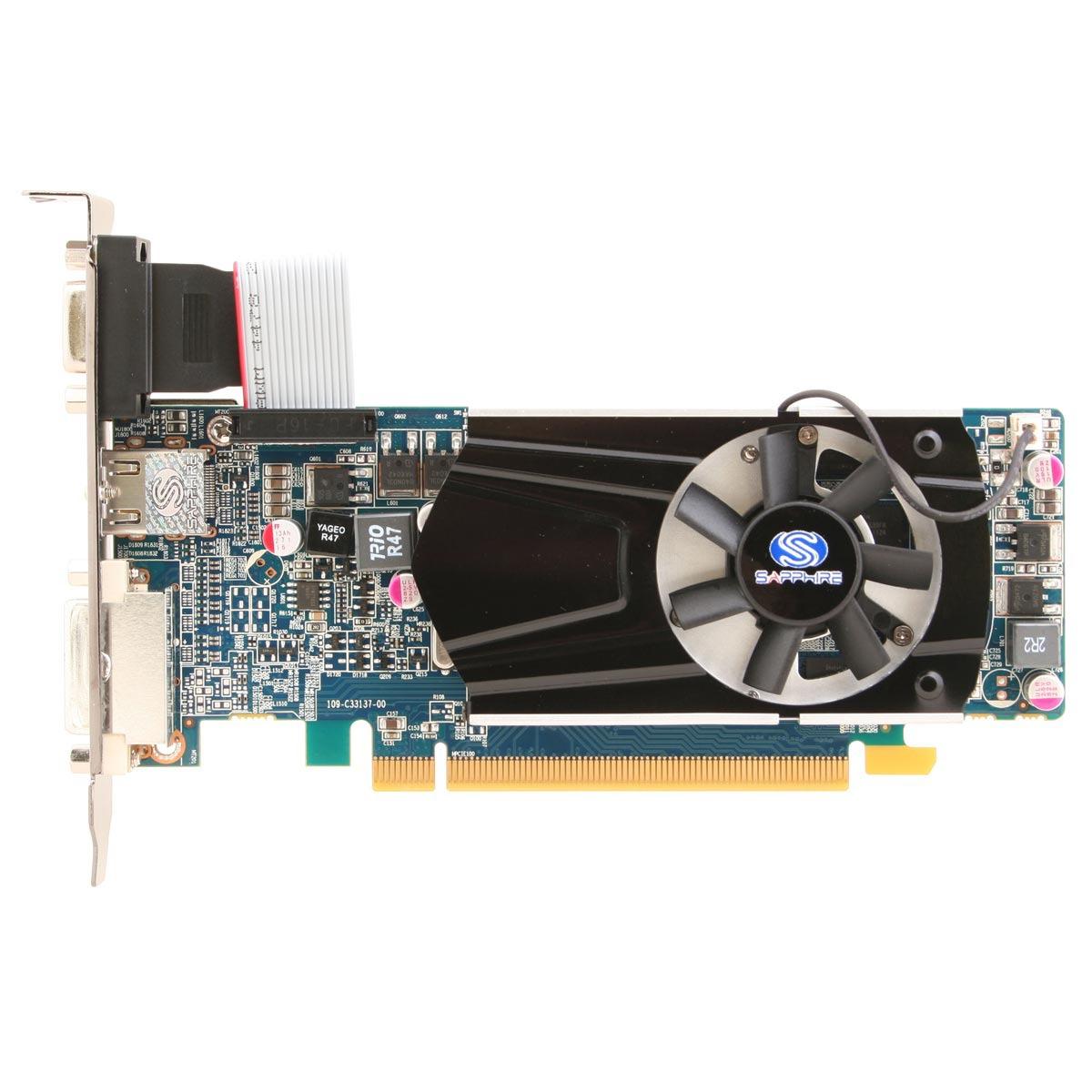 Carte graphique Sapphire Radeon HD 6570 1 GB DDR3 Sapphire Radeon HD 6570 1 Go - 1 Go HDMI/DVI - PCI Express (AMD Radeon HD 6570)