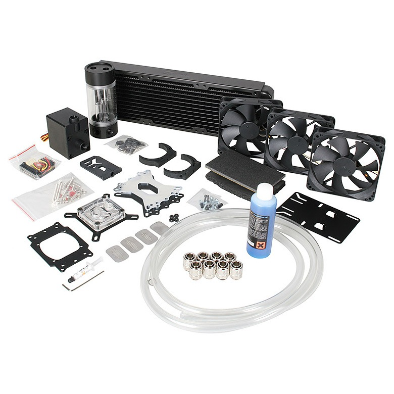 Watercooling EK Water Blocks EK-KIT H3O Supreme HF 360 Kit de watercooling haute performance