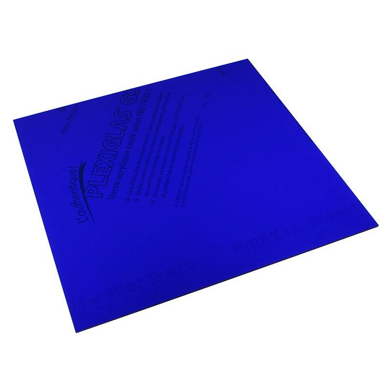 panneau plexiglas transparent bleu marine 400 x 400 mm fen tre boitier g n rique sur. Black Bedroom Furniture Sets. Home Design Ideas