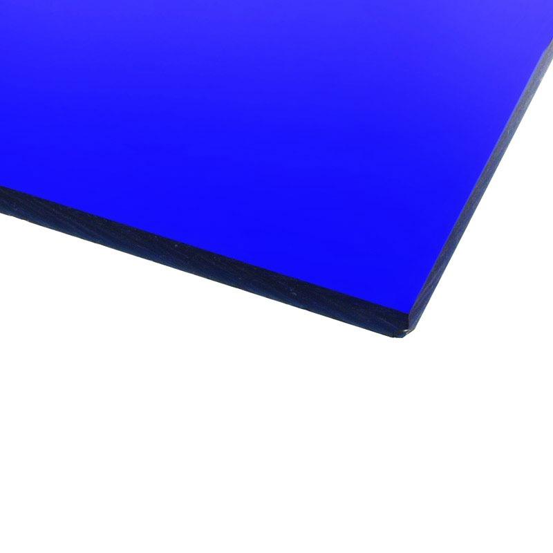 Panneau plexiglas transparent bleu marine 400 x 400 mm for Fenetre plexiglass