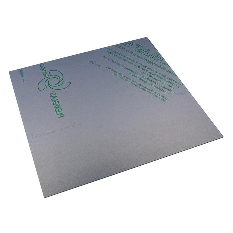 Panneau plexiglas transparent gris 400 x 400 mm for Fenetre plexiglass