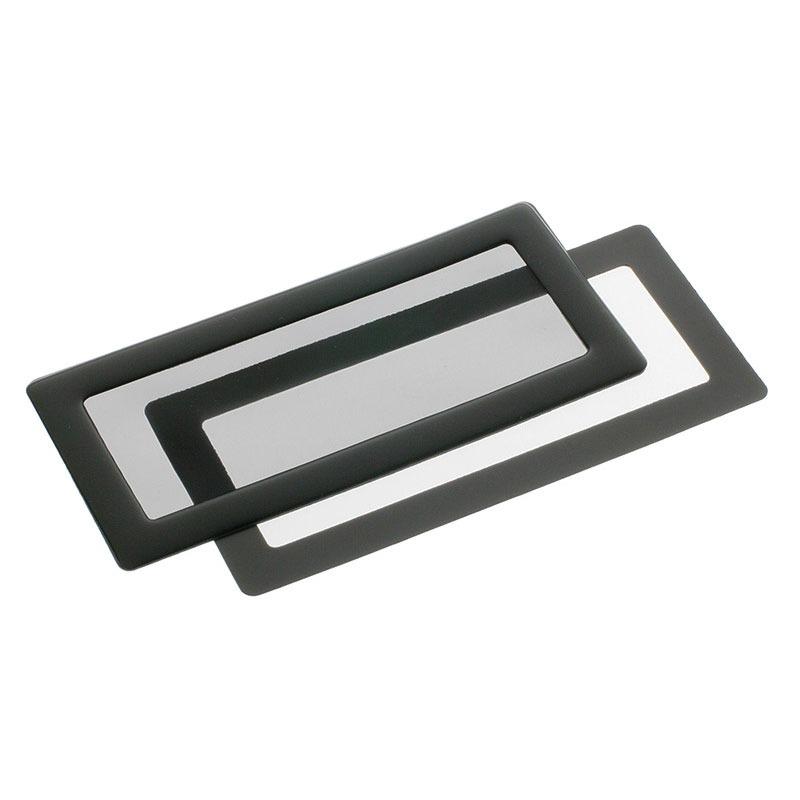 Accessoires Tuning PC Filtre à poussière magnétique rectangulaire 2x 40 mm (cadre noir, filtre noir) Filtre à poussière magnétique rectangulaire 2x 40 mm (cadre noir, filtre noir)