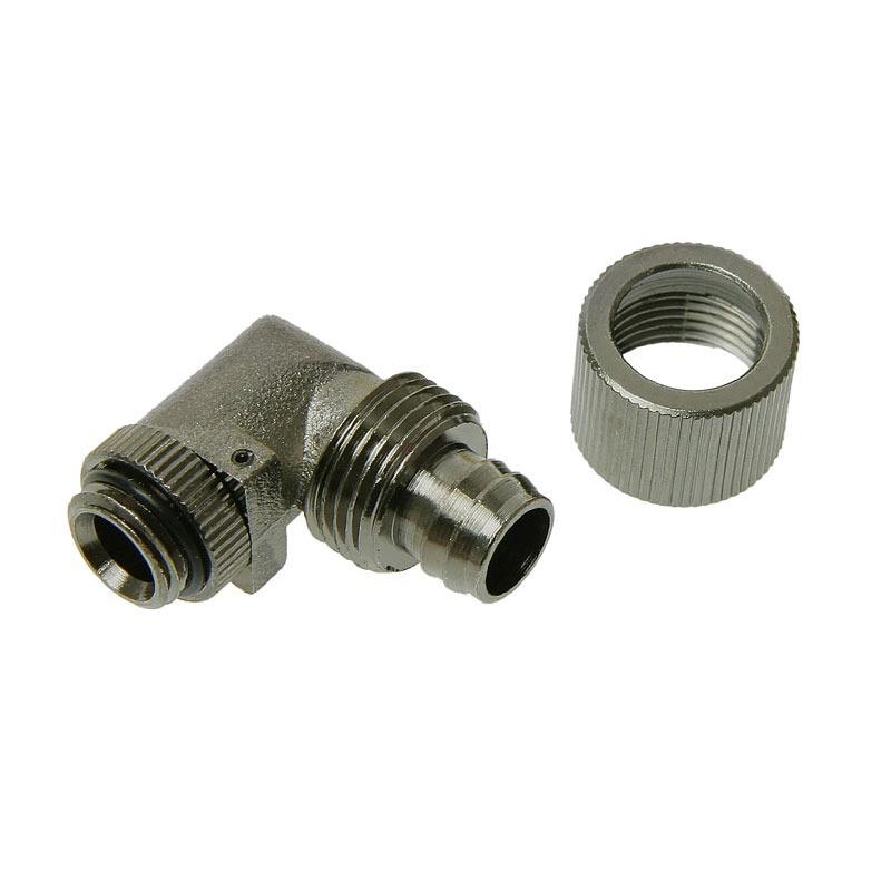 """Watercooling Connecteur 1/4"""" 13/10 mm coudé 90° (coloris noir) Connecteur 1/4"""" 13/10 mm coudé 90° (coloris noir)"""