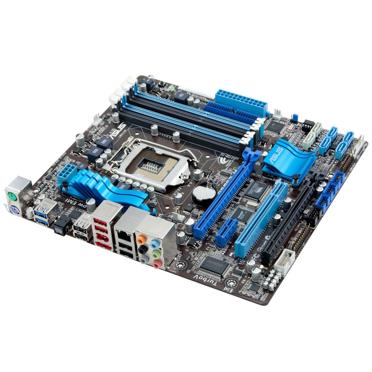 Carte mère ASUS P8P67-M + Windows 7 Premium Carte mère Micro ATX Socket 1155 Intel P67 Express + Microsoft Windows 7 Édition Familiale Premium SP1 OEM 64 bits