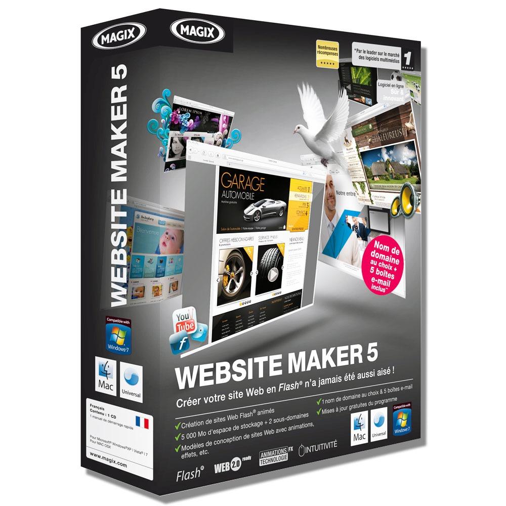 magix website maker 5 magix sur. Black Bedroom Furniture Sets. Home Design Ideas