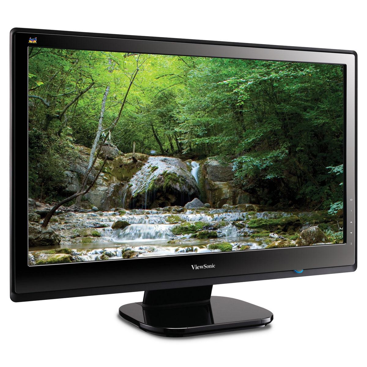 """Ecran PC ViewSonic 24"""" LED - VX2453mh-LED 1920 x 1080 pixels - 5 ms - Format large 16/9 Super-Slim - Noir (garantie constructeur 2 ans)"""