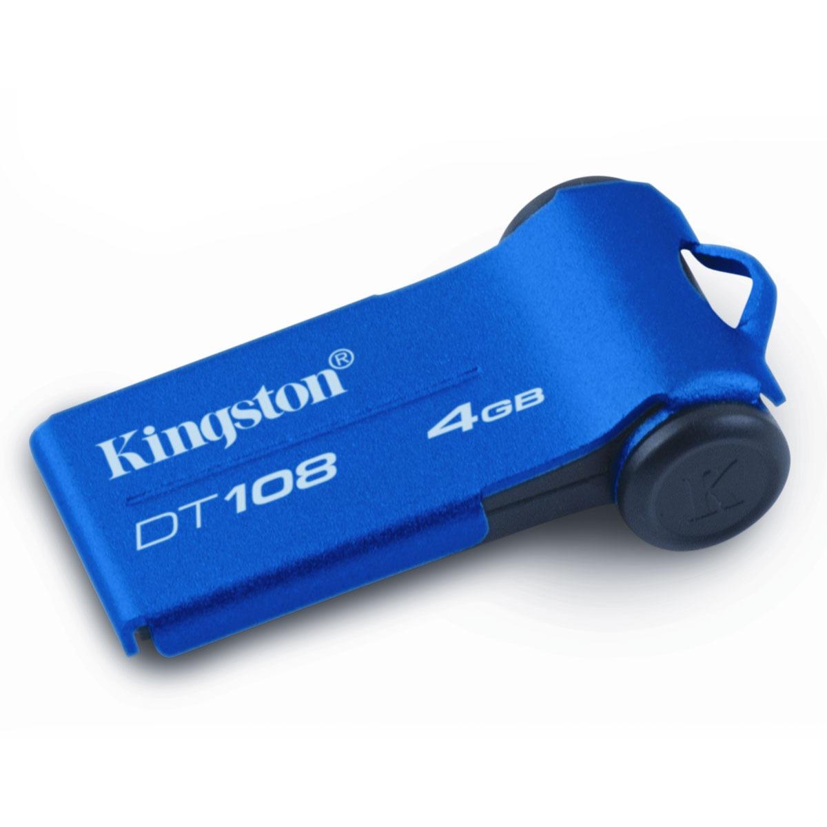 Clé USB Kingston DataTraveler 108 4 Go Kingston DataTraveler 108 4 Go - USB 2.0 (garantie constructeur 5 ans)