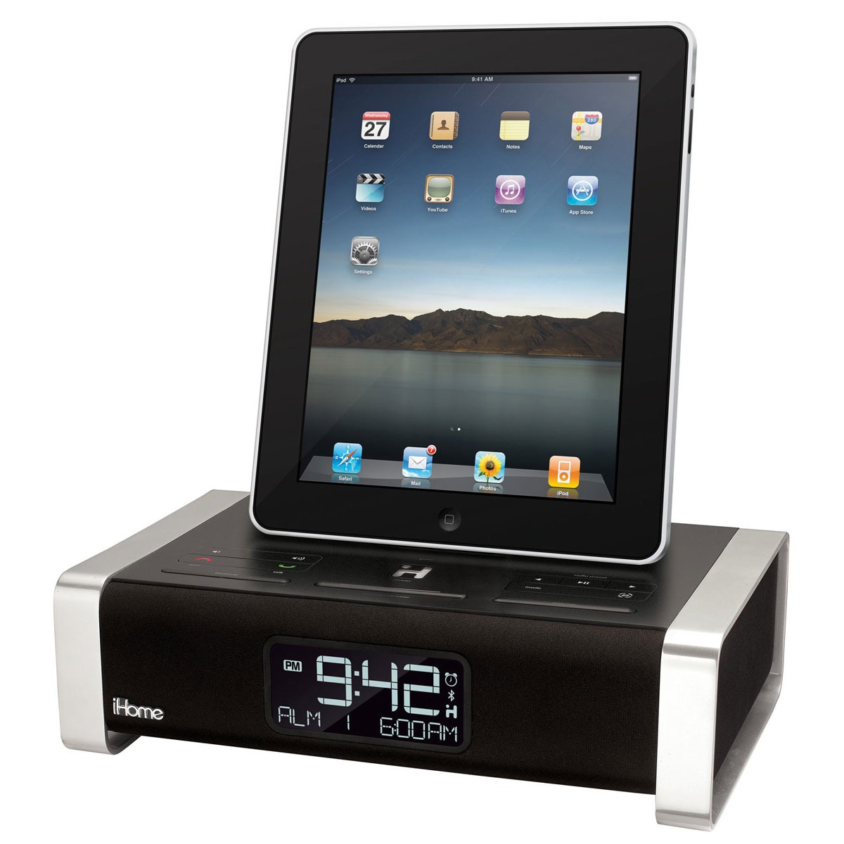 Dock & Enceinte Bluetooth iHome iA100 Radio-réveil Bluetooth pour iPad/iPhone/iPod