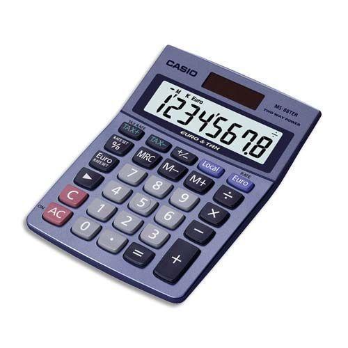 casio ms 88ter calculatrice de bureau calculatrice casio sur. Black Bedroom Furniture Sets. Home Design Ideas