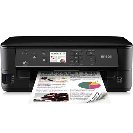 Imprimante multifonction Epson Stylus Office BX535WD Imprimante Multifonction jet d'encre couleur 4-en-1 (USB 2.0/Wi-Fi b/g/n/Ethernet)