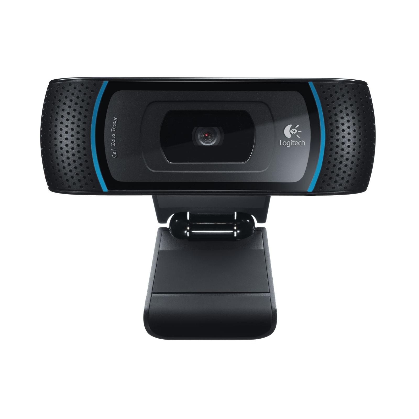Webcam Logitech HD Webcam B910 Webcam HD 720p sur port USB 2.0 avec microphone intégré