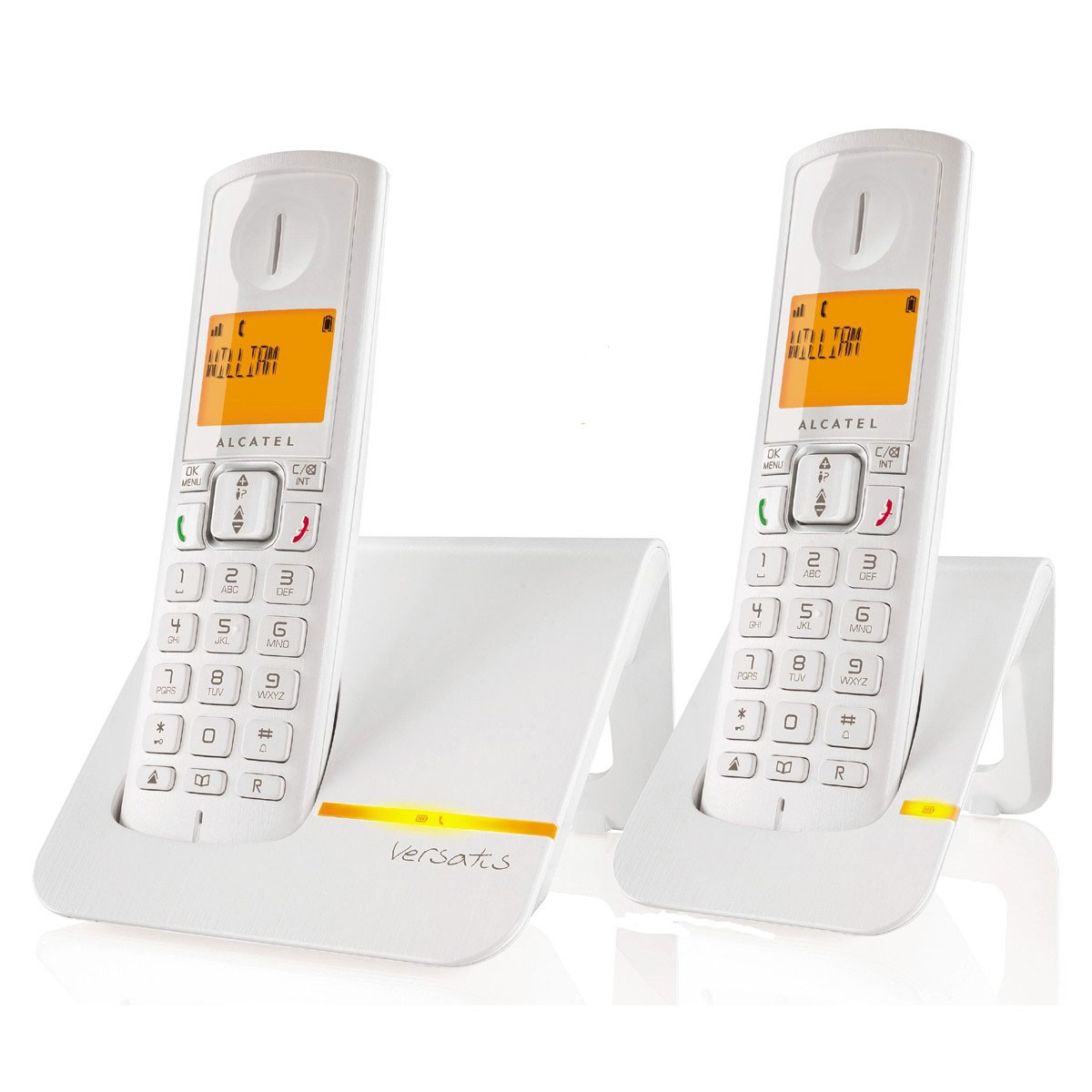 alcatel versatis f200 duo blanc t l phone sans fil alcatel sur. Black Bedroom Furniture Sets. Home Design Ideas