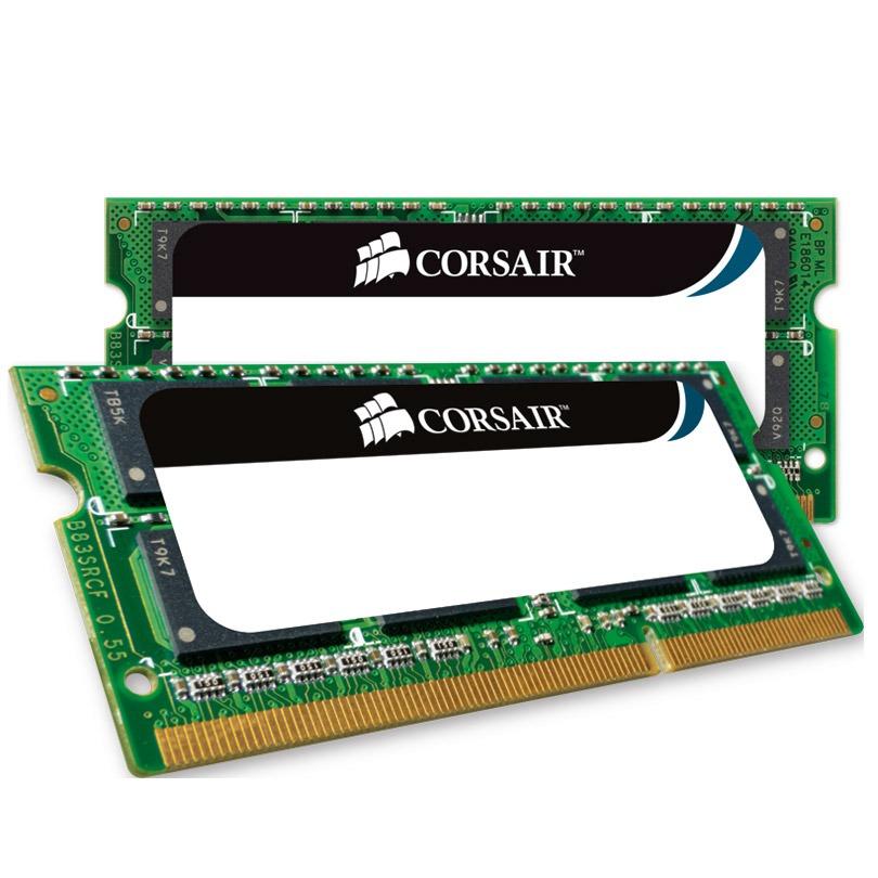 Mémoire PC portable Corsair Mac Memory SO-DIMM 16 Go (2 x 8 Go) DDR3 1866 MHz CL11 Kit Dual Channel RAM SO-DIMM DDR3 PC3-14900 - CMSA16GX3M2C1866C11 (garantie à vie par Corsair)