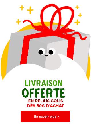 Livraison offerte en Relais Colis dès 50€ d'achat