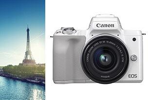 Canon EOS M50 Blanc + EF-M 15-45 mm