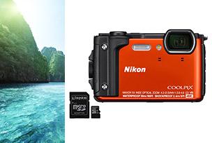 Nikon Coolpix W300 Orange + SD