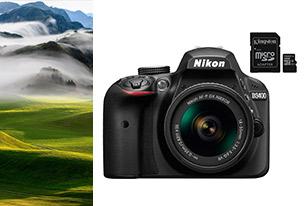 Nikon D3400 + AF-P 18-55 VR No + SD