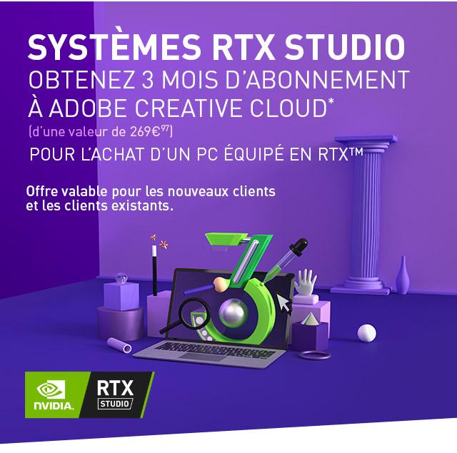 GeForce RTX Studio | Votre propre studio à la vitesse de l'imagination