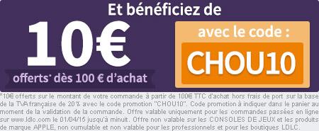 10€* offerts dès 100€ d'achat