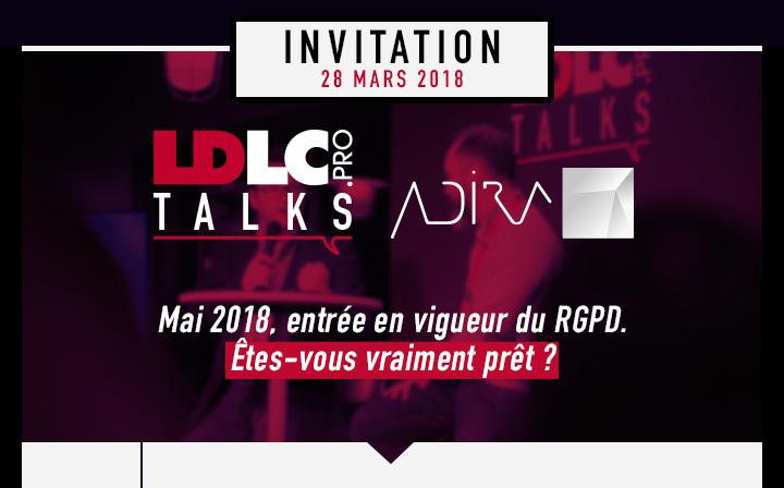 Invitation LDLC.PRO TALKS le 28 mars au campus LDLC