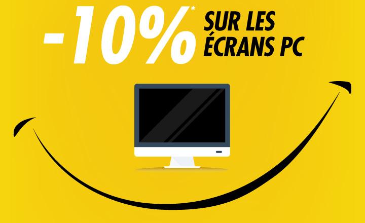 -10% sur les écrans pc