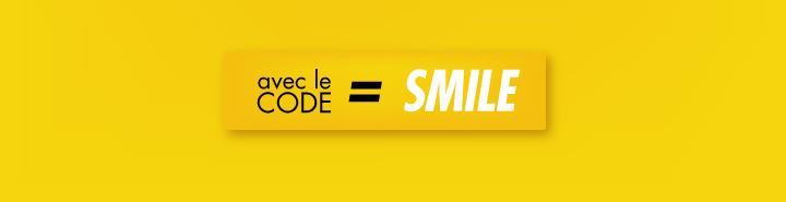 J'en profite avec le code SMILE