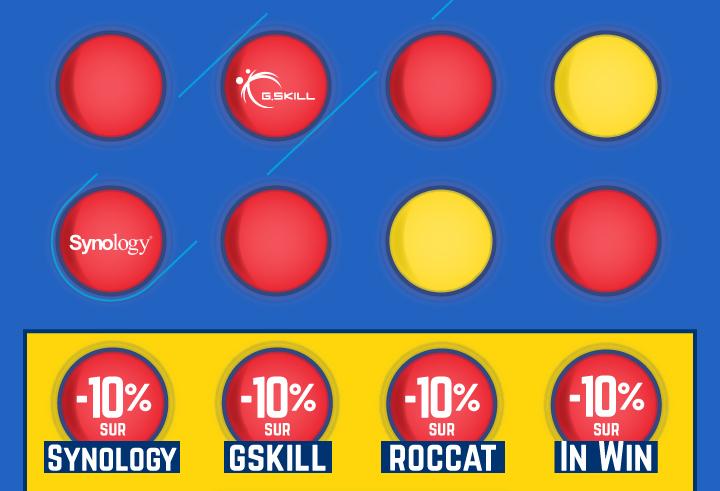 -10%* sur Synologie, -10%* sur GSKILL, -10%* sur ROCCAT, -10%* sur IN WIN avec le code ALIGNE