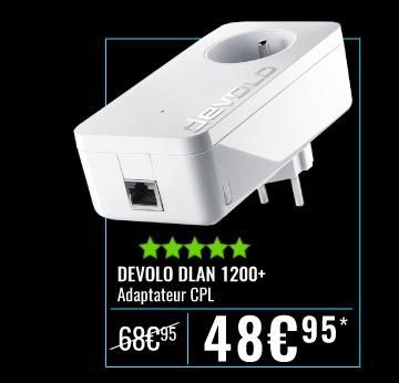 Adaptateur Devolo dLAN 1200+ à de 48.95 au lieu de 68.95